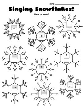 Singing Snowflakes: Note Reading Assessment