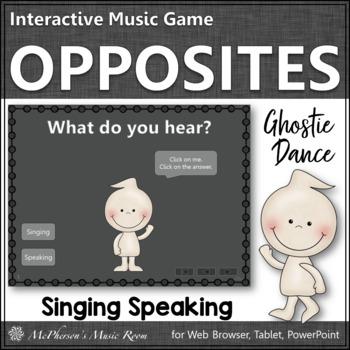 Singing Voice vs Speaking Voice Ghostie Dance Interactive