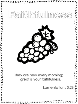 Single Bible Curriculum Worksheet. Fruit of the Spirit Fai