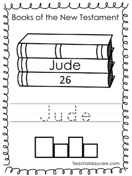 Single Bible Curriculum Worksheet. Jude Bible Book Prescho
