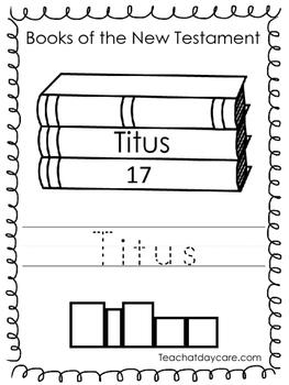 Single Bible Curriculum Worksheet. Titus Bible Book Presch