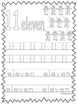 Single Bible Curriculum Worksheet. Trace the Number 11 Pre