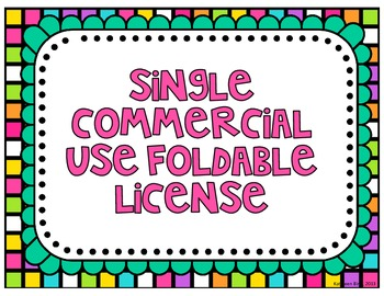 Single Commercial Use Foldable License