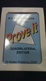(Single Deck) Quadrilateral Properties Game - Prove It!