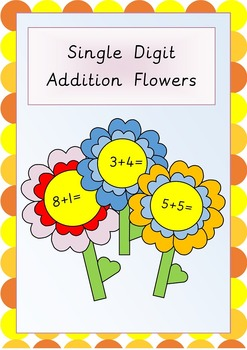 Single Digit Addition Flowers- Great for outdoor activitie