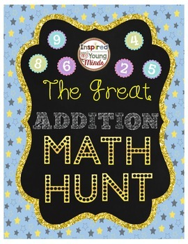 Single Digit Addition Math Facts - The Great Math Hunt