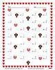 Single Digit Addition - Valentine's Day - Vertical