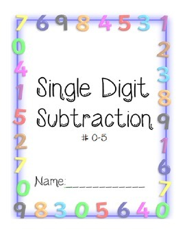 Single Digit Subtraction