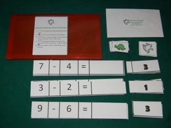 Single Digit Subtraction Using Manipulatives Math Center-