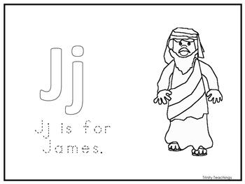 Single Disciple James Worksheet.  Preschool-Kindergarten B