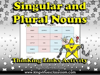 Singular Nouns and Plural Nouns Thinking Links Activity #4