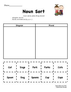Singular & Plural Noun Sort: Basic