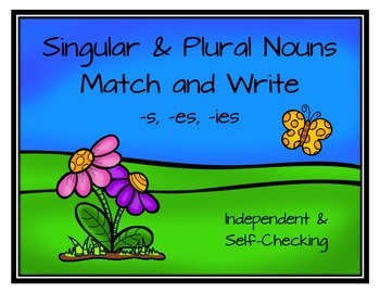Singular & Plural Nouns Match and Write