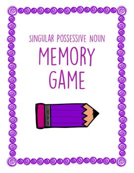 Singular Possessive Noun Memory Game