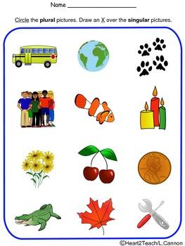 Singular and Plural Activity Sheet *FREE*
