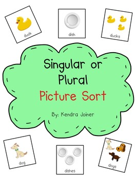 Picture Sort: Singular or Plural