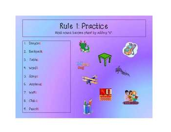 Singular and Plural Nouns (EDITABLE)Powerpoint, Worksheets