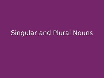 Singular and Plural Nouns: Strategies
