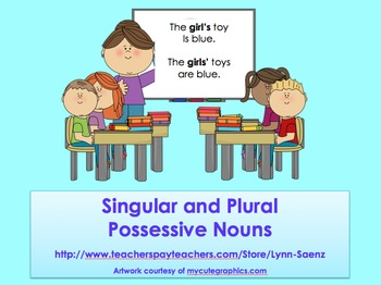 Singular and Plural Possessive Noun PowerPoint