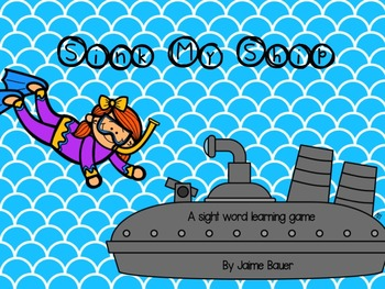 Sink My Ship Sight Words