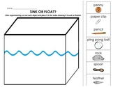 Sink or Float Experiment with cut and paste application