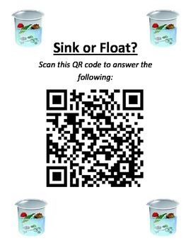 Sink or Float QR Code Activity