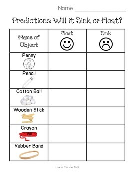 Printables Sink Or Float Worksheet sink or float worksheet by teitsma treasures teachers pay worksheet