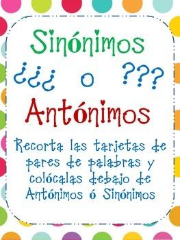 Sinonimos o Antonimos?