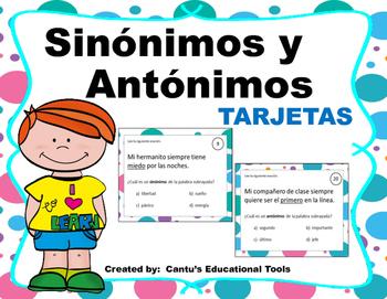 Sinonimos y Antonimos Tarjetas