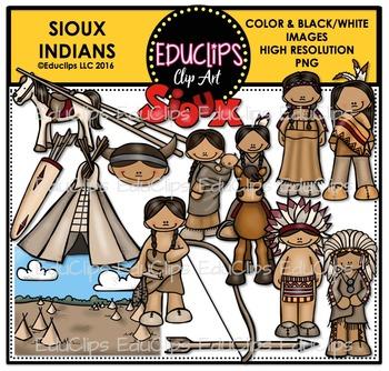 Sioux Indians Clip Art Bundle