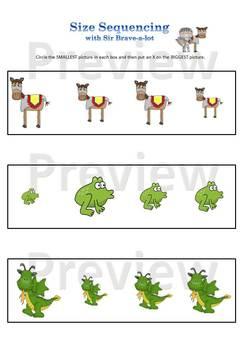 Sir Brave-a-lot Preschool Workbook Expansion Pack Printabl