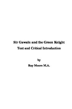 """""""Sir Gawain & the Green Knight"""": Text and Critical Introduction"""