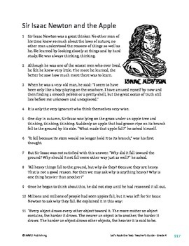 Sir Isaac Newton and the Apple - Informational Text Test Prep