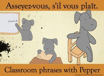 Sit Down, please, Asseyez-vous, s'il vous plaît, for Peppe
