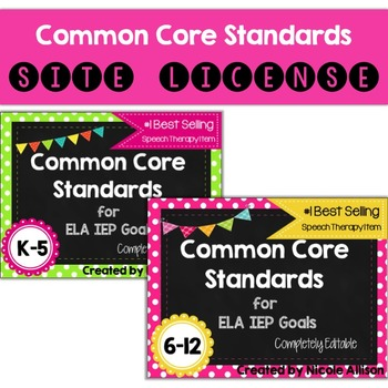 Site License: Common Core Standards Supporting IEP Goals for ELA