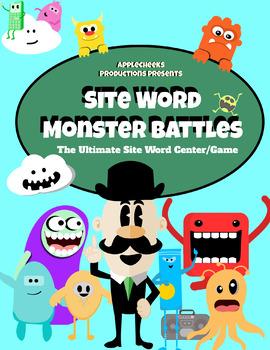 Site Word ELA Center (1st- Second Grade) Monster Site Word