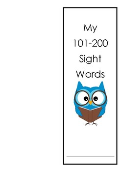 Sitton Sight Word Booklet (words101-200) with victory cert