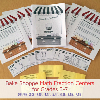 Six Center Math Fraction Bakery - Common Core 3-7