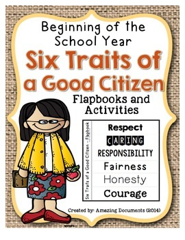 Six Character Traits of Good Citizenship - Interactive Not