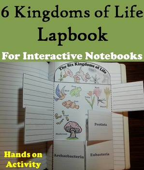 The Six Kingdoms of Life Interactive Notebook Foldable (Fu