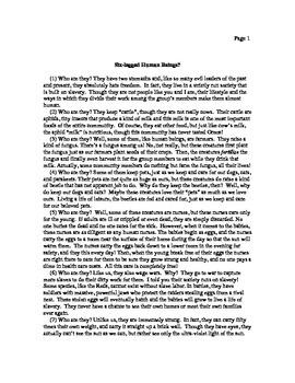 Six-Legged Human Beings? (Informational Reading)