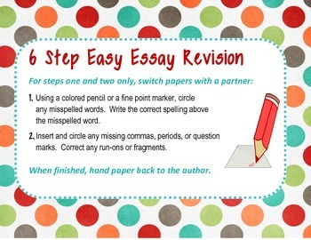 Six Step Easy Essay Revision