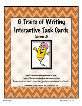 Six Traits of Writing Interactive Task Cards - Volume 2