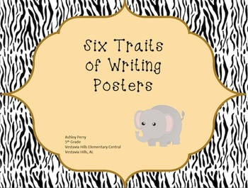 Six Traits of Writing Posters - Jungle Theme