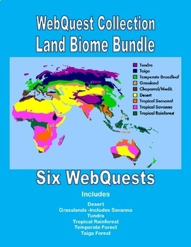 A Bundled Collection of WebQuests-Land Biomes -Reading for