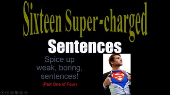 Sentence Structure Variety Lesson Motivate to write w/ pic