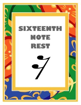 Sixteenth Note Rest Poster