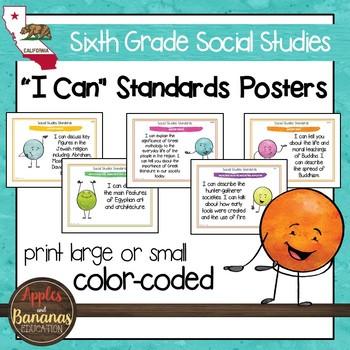 Sixth Grade California Social Studies Standards - Posters