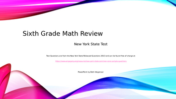 Sixth Grade Common Core Math Test Review with NY State Rel
