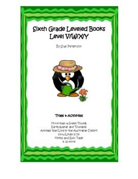 Sixth Grade Leveled Books:  Level X/Y